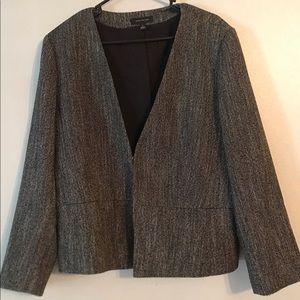Ann Taylor Cutaway Blazer in Tweed